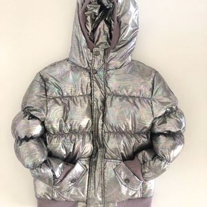 Appaman Metallic Silver Puffer Jacket 8